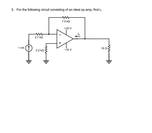 Solved 2 For The Following Ideal O Circuit Ete The Tabl
