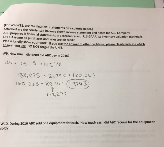 financial statement paper