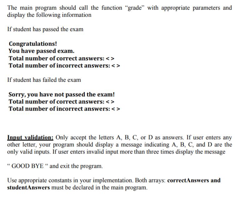 Solved: 2  [14 Points] Driver's License Exam Grader System