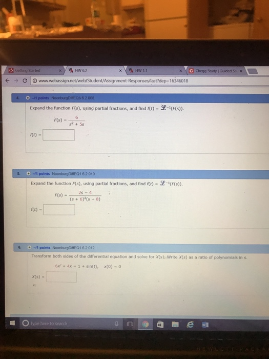 Solved: Getting Started HW62 NG Chegg Study I Gued Sc