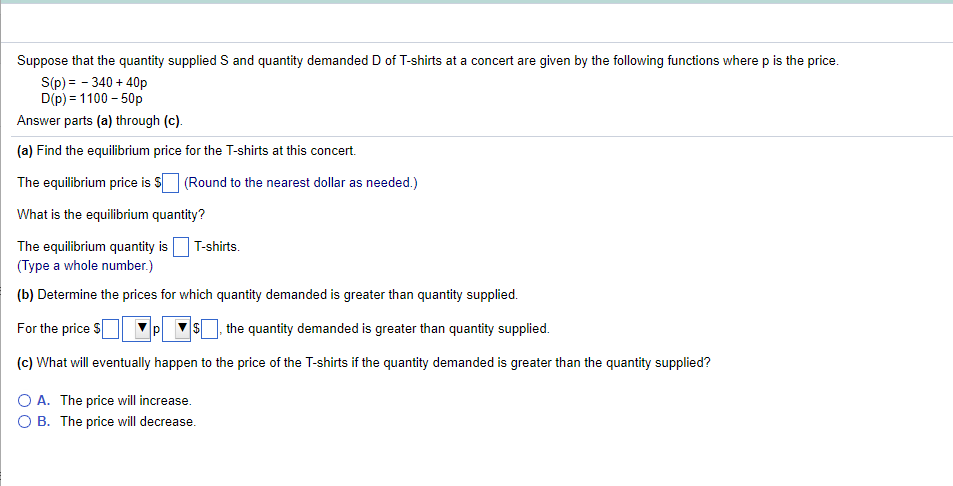 Solved Suppose That The Quantity Supplied S And Quantity