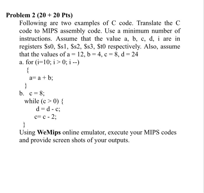 Solved Problem 2 2020 Pts Following Are Two Examples Of