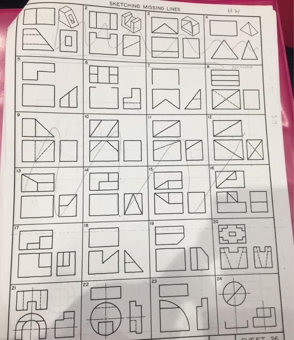 solved sketching missing lines h w 24 et 26 chegg com