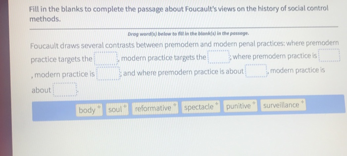 Solved: Fill In The Blanks To Complete The Passage About F