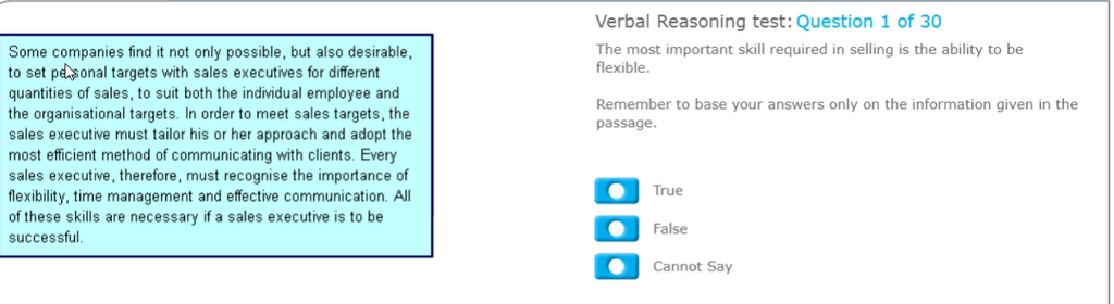 Solved Verbal Reasoning Test Question 1 Of 30 The Most I Chegg Com