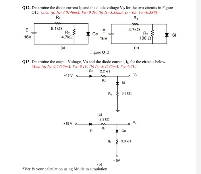 solved q12 determine the diode current ip and the diode rh chegg com
