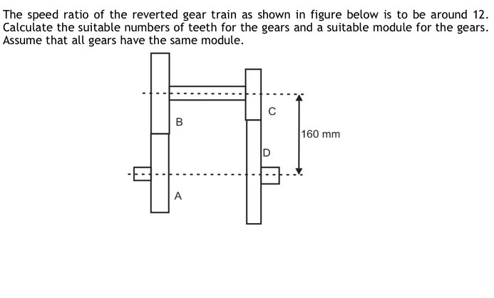 Solved: The Speed Ratio Of The Reverted Gear Train As Show