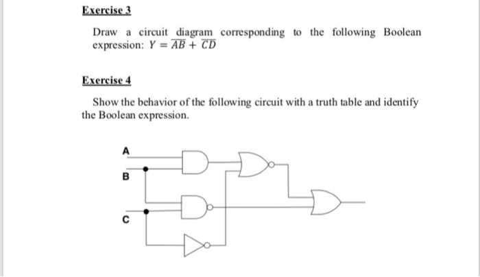 Solved  Exercise 3 Draw A Circuit Diagram Corresponding To