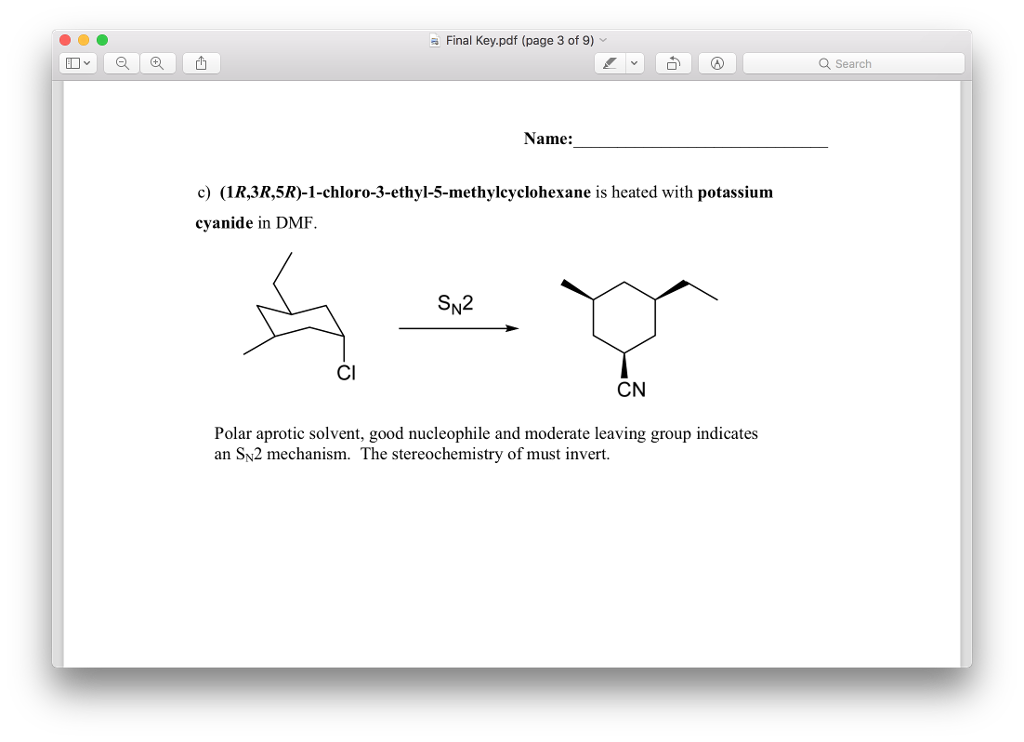 Solved: This Problem Is A Practice For My Ochem Final Tomo