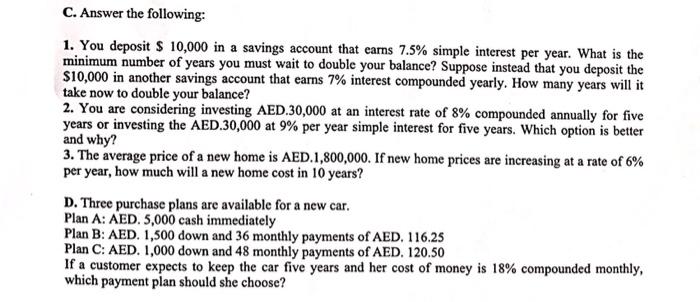 You Deposit 10000 In A Savings Account