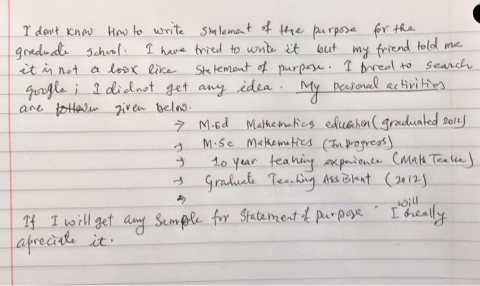 How to write a phd statement of purpose
