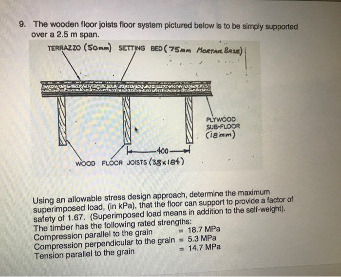 9 The Wooden Floor Joists Floor System Pictured B