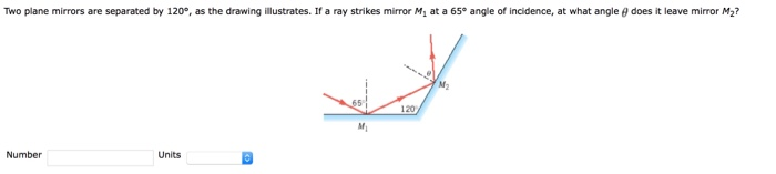 Solved  Two Plane Mirrors Are Separated By 120 U00b0  As The Dr