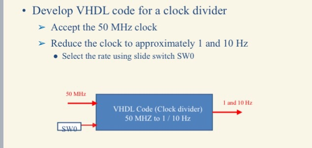 Solved: Develop VHDL Code For A Clock Divider > Accept The