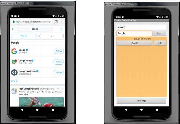 Develop A Favorite Twitter Searches App  This App     | Chegg com