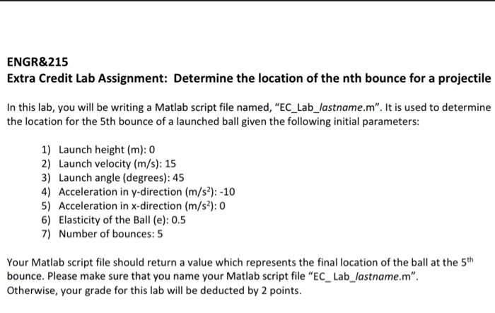 ENGR&215 Extra Credit Lab Assignment: Determine Th