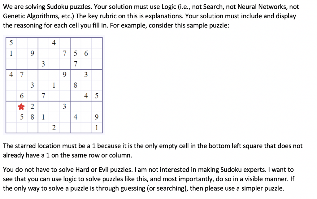 We Are Solving Sudoku Puzzles  Your Solution Must     | Chegg com