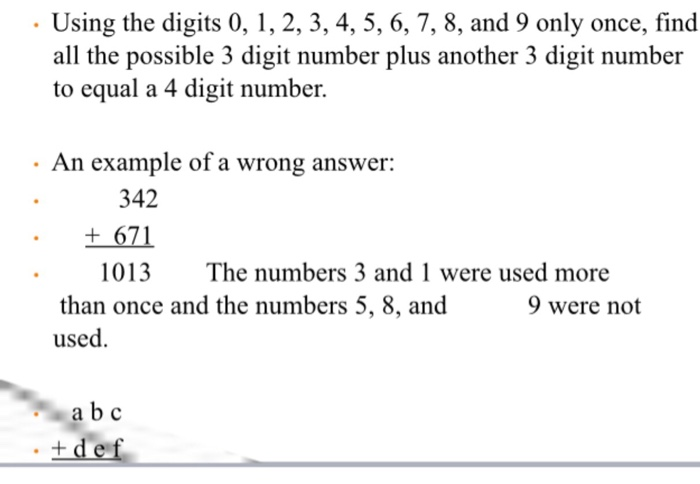 Solved: Using The Digits 0, 1, 2, 3, 4, 5, 6, 7, 8, And 9