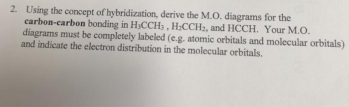 Hcch Molecular Orbital Diagram Trusted Wiring Diagrams