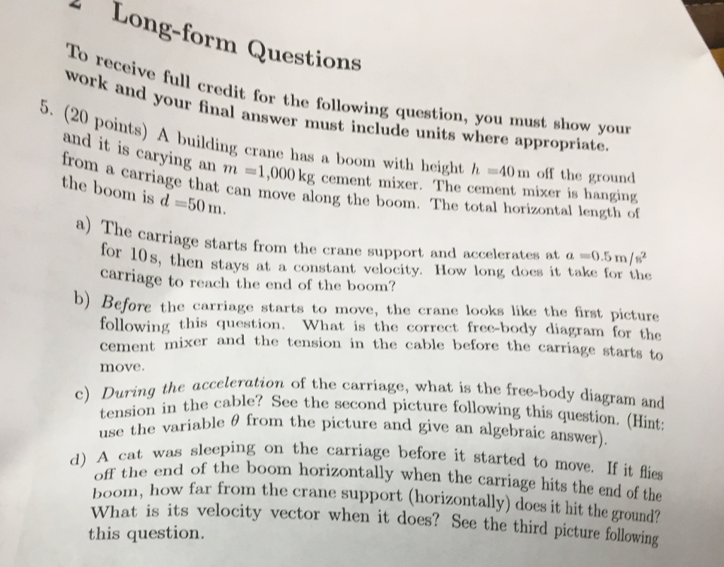 Og-form Questions To Receive Full Credit For The F    | Chegg com