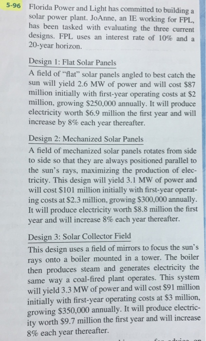 5 96 Florida Power And Light Has Committed To Building A Solar Power Plant.