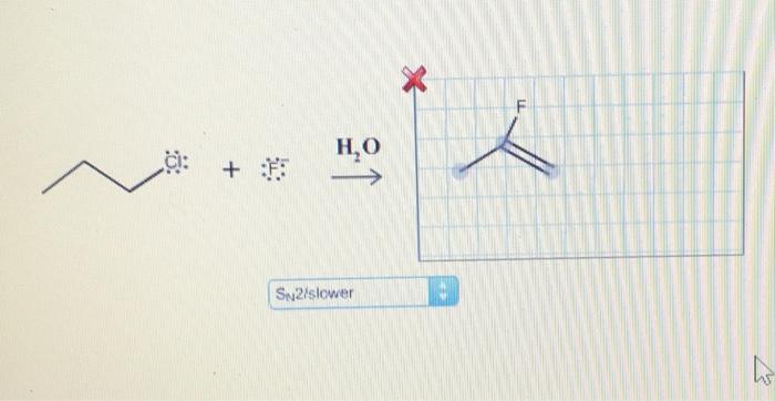 H,O CI: SN2/slower