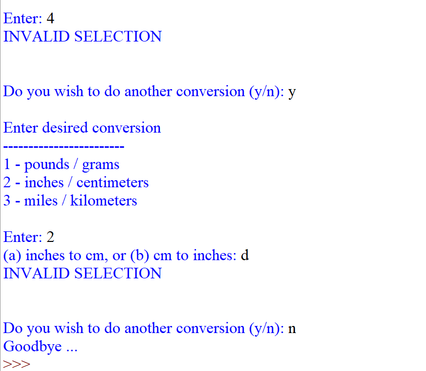 Solved: Metric Conversion: Develop And Test A Python Progr