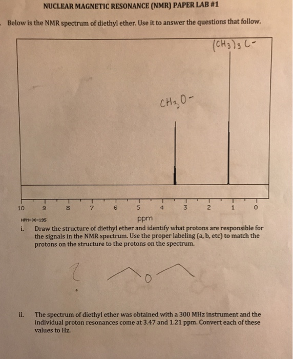 Solved Nuclear Magnetic Resonance Nmr Paper Lab 1 Belo