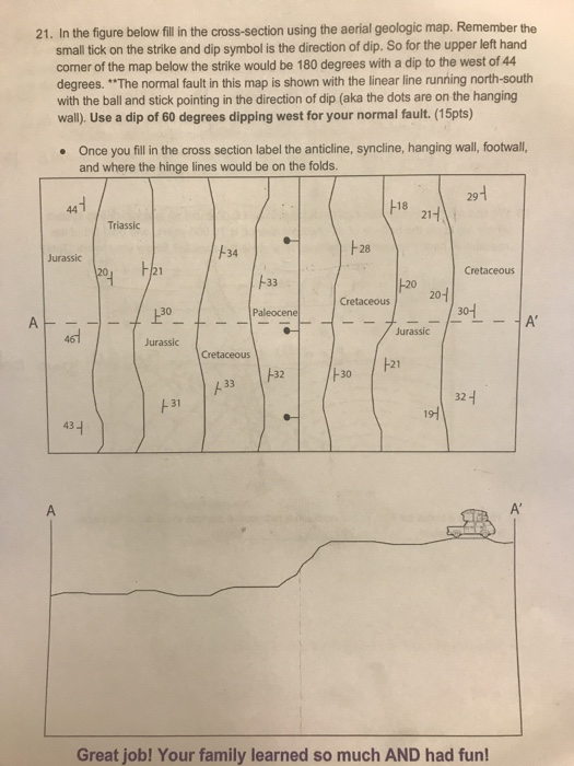Solved: 21. In The Figure Below Fil In The Cross-section U ... on