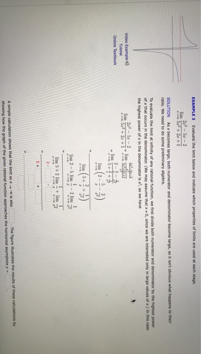 Solved: EXAMPLE 3 Evaluate The Limit Below And Indicate Wh
