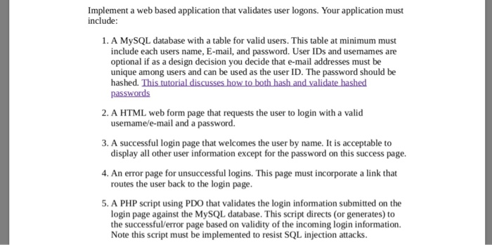 Solved: Implement A Web Based Application That Validates U