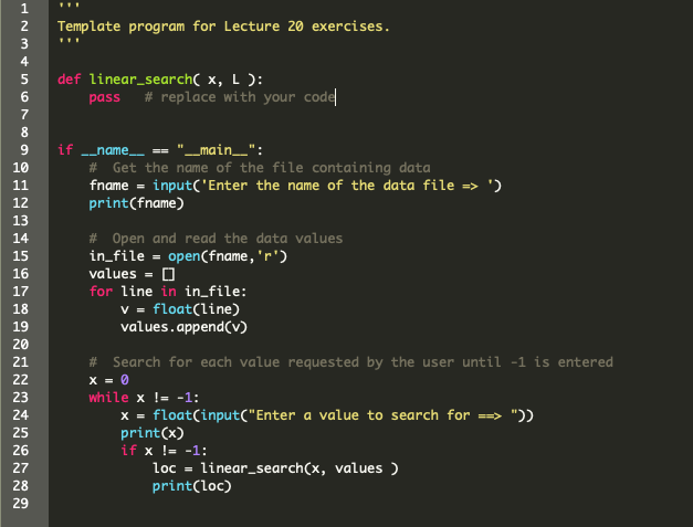 Solved: 1  Write A Python Function Called Inear_search) Th