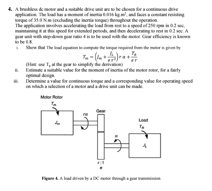 4  A Brushless Dc Motor And A Suitable Drive Unit