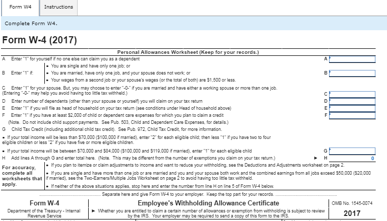 Complete The W 4 For Employment At Superore Wheels Chegg