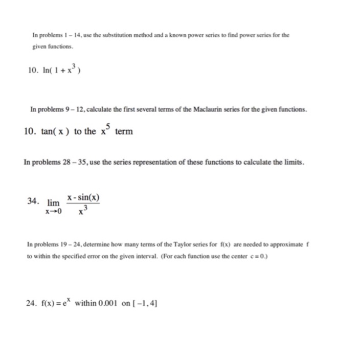 Solved: In Problems 1-14, Use The Substitution Method And