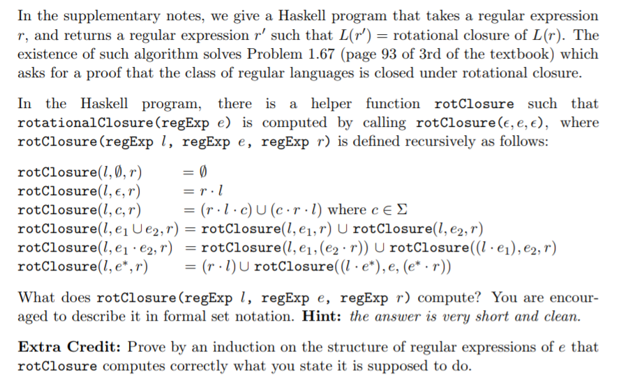In The Supplementary Notes, We Give A Haskell Prog