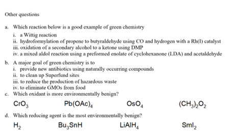 Solved: Other Questions Which Reaction Below Is A Good Exa