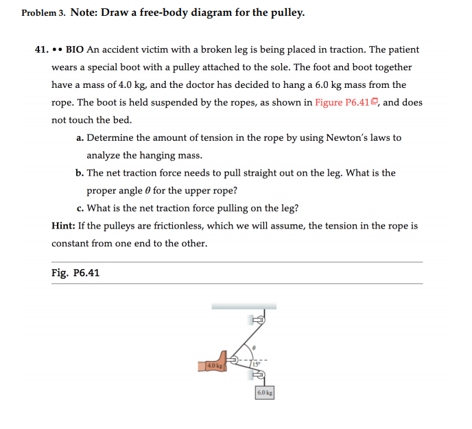 Solved Problem 3 Note Draw A Free Body Diagram For The