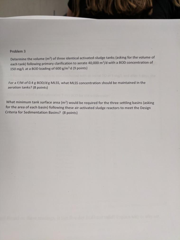 Solved: Problem 3 Determine The Volume (m3) Of Three Ident