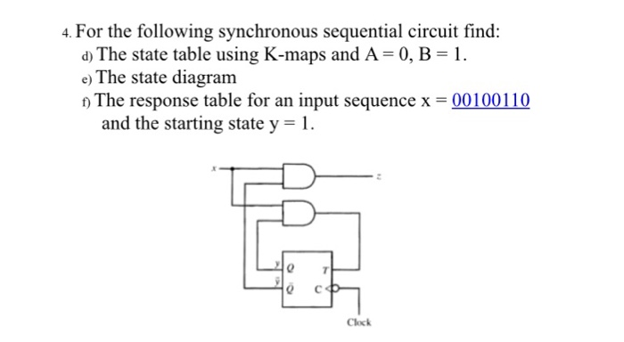 Solved for the following synchronous sequential circuit f for the following synchronous sequential circuit find the state table using k ccuart Image collections