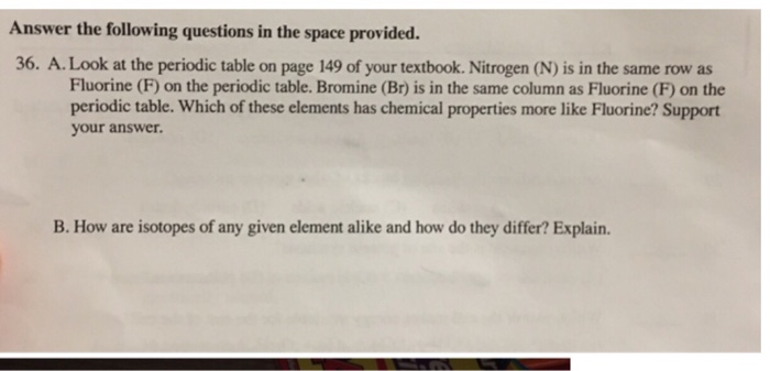 Solved Answer The Following Questions In The Space Provid