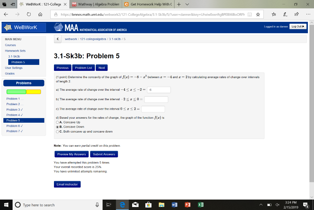 Solved: €1 D WeBWorK: 121-College X Mathway | Alge Prob ... on average value of change, map of average temperature change, seeds of change, percent of change, average growth rate,