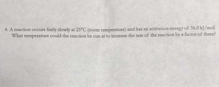 activation energy room temperature