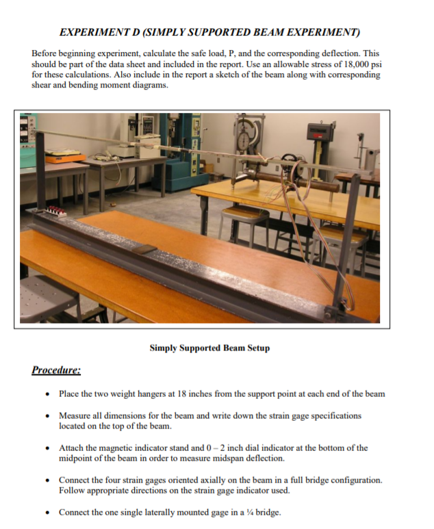 bending stress in a beam experiment report