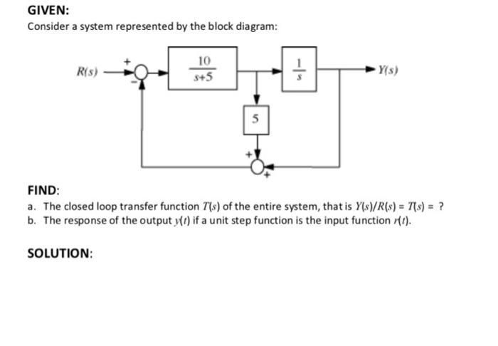 Transfer Function Block Diagram Representation - Electrical Work ...