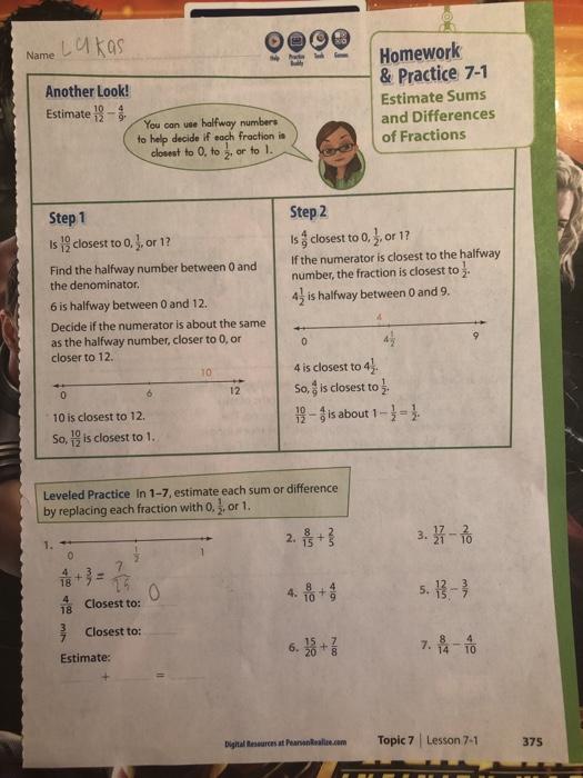 Digital Resources At Pearsonrealize Com Answers Grade 5 ...