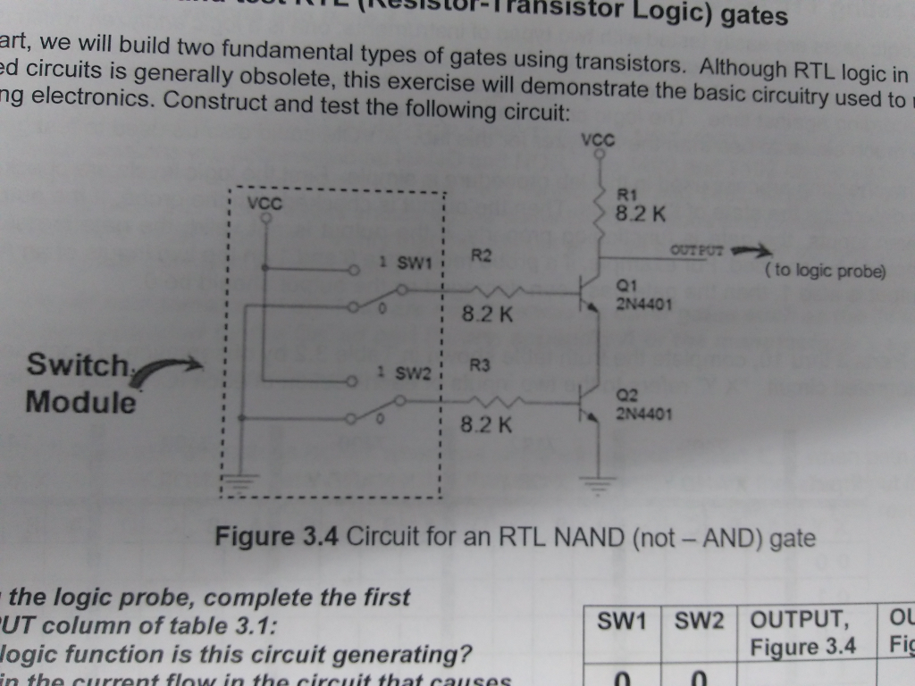 solved 2 using the diagrams for nand and nor gates in tr. Black Bedroom Furniture Sets. Home Design Ideas
