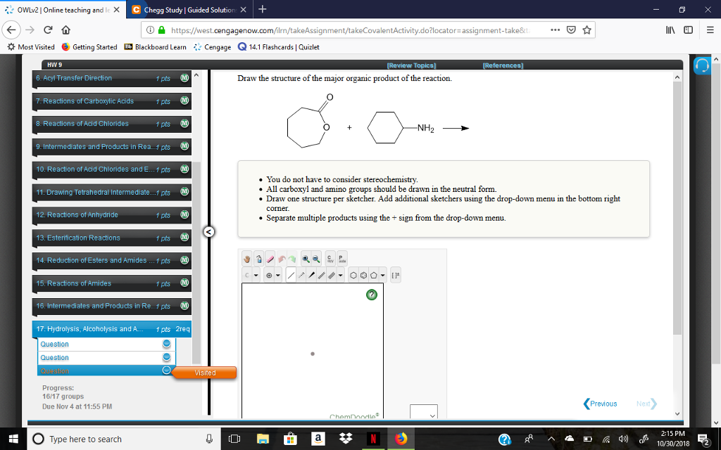 Solved: OwLv2] Online Teaching And I × Chegg Study! Guided