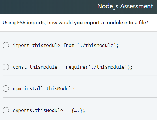Solved: Node js Assessment What Is The Command To Silence