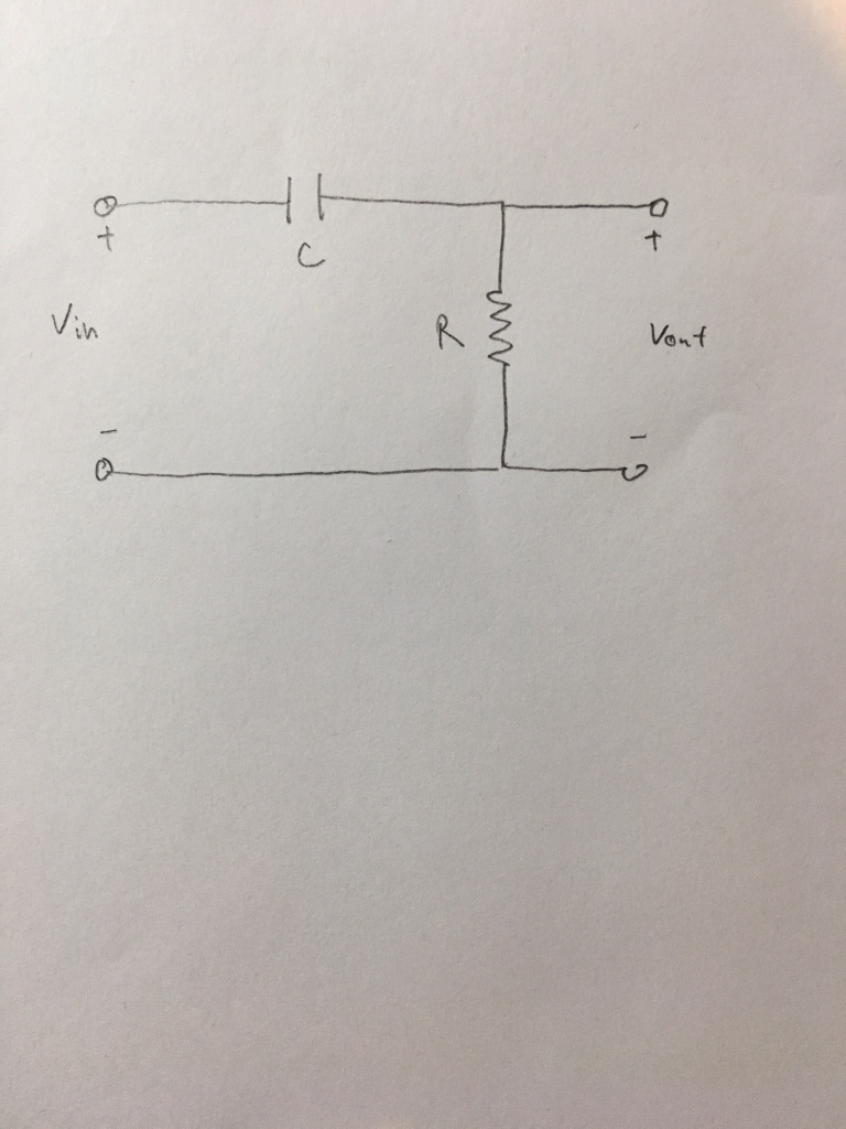 Solved Relate The Time Constant Cuoff Frequency And Ban Capacitor Input Filter Circuit Write An Expression For Output Voltage As A Function Of V Outt Step Ai Assume Is Discharged To Begin With